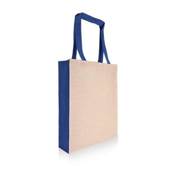 Two Tone Juco Tote Bag Tote Bag / Non-Woven Bag Bags Best Deals Eco Friendly TNW1027_BlueThumb2[1]